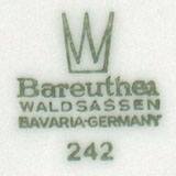 Waldsassen Bareuther & Co. - Bavaria (mark green 1970-1993 r.)