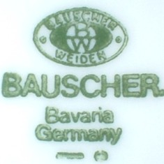 Bauscher Weiden Germany (mark green 1920 r.->)
