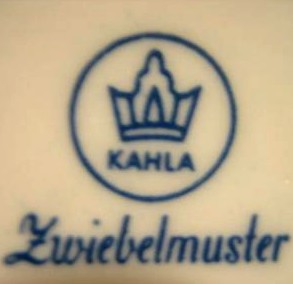 VEB Porzellanwerk Kahla (mark blue - 1957-1964 r.)