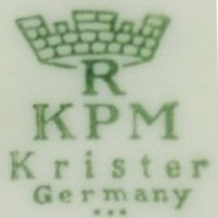 Krister Porzellanmanufaktur - KPM (mark green 1952-1965 r.)