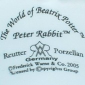 M.W.Reutter Porzellan - Peter Rabbit (mark black 2005 r.)