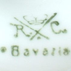 Philip Rosenthal & Co.-  Bavaria R.C. (mark green 1901- 1906 r.)
