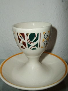 Cup with Plate - Granit Made in Hungary (mark brown)